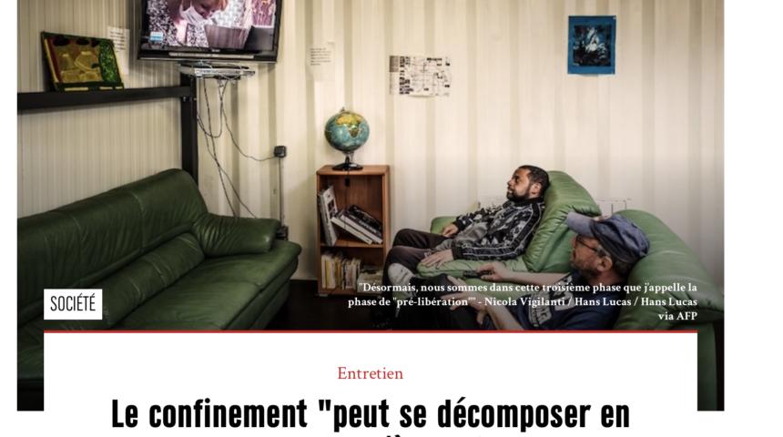 Le confinement «peut se décomposer en 3 phases, la dernière est la plus anxiogène» Jan-Edouard Brunie pour Magazine MARIANNE